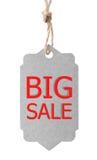 życzliwa eco etykietka Duża sprzedaż, odizolowywająca na białym tle Obrazy Royalty Free
