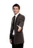 Życzliwy biznesmen daje ręce pieczętować zgodę Fotografia Royalty Free