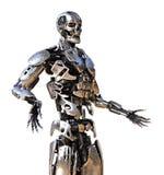 Życzliwy chromu robot ilustracji