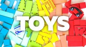 Życzliwy drewniany koloru konstruktor odizolowywający na białym tle rozwój dziecka preschool Bawić się budynek fotografia stock