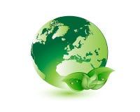 Życzliwy Eco życie, kula ziemska i Ilustracja Wektor