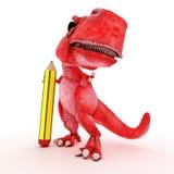 życzliwy kreskówka dinosaur Zdjęcia Royalty Free