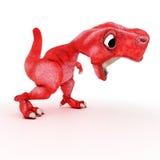 życzliwy kreskówka dinosaur Obrazy Royalty Free