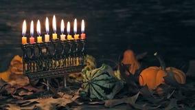 Żydowscy wakacyjni hannukah symbole - menorah