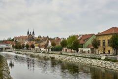 Żydowska ćwiartka i górska chata, Trebic, republika czech, UNESCO miejsce fotografia stock