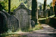 ?ydowski cmentarz w Trebic jest UNESCO miejscem zdjęcie royalty free