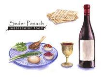 Żydowski jedzenie royalty ilustracja