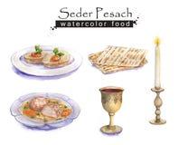 Żydowski jedzenie ilustracji