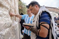 Żydowski mężczyzna modlenie Zdjęcie Royalty Free