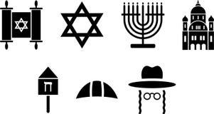 Żydowskie ikony ilustracja wektor