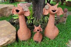 żyrafa uśmiechnięty tradycyjny projekt Obrazy Stock