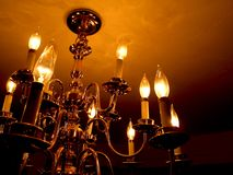 żyrandol ciemności Zdjęcia Royalty Free