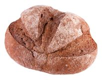 Żyto pszeniczny chleb odizolowywający na białym tle obrazy royalty free