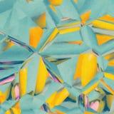Żywa cyraneczka i Żółta Nowożytna Abstrakcjonistyczna ilustracja Fotografia Royalty Free