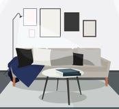 Żywa izbowa scandinavian pojęcie ilustracja ilustracji
