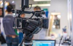 Żywa Leje się transmisja Z Pracownianą kamerą fotografia stock