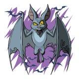 Żywego trupu Halloweenowy nietoperz odizolowywający ilustracji
