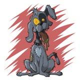 Żywego trupu kła pies ilustracji