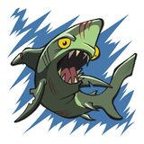 Żywego trupu rekinu istoty drapieżnik morze ilustracji