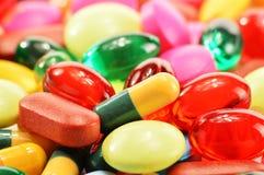 Żywienioniowego nadprograma kapsuły i lek pigułki zdjęcie royalty free