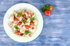 Żywienioniowy naczynie kalafior z pomidorami obraz royalty free