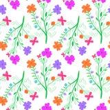 Żywy bezszwowy kwitnący wzór Zdjęcia Royalty Free