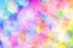 żywy bokeh w miękkim koloru stylu dla tła światło Obraz Royalty Free