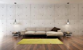 Żywy izbowy wewnętrzny projekt i Zdjęcia Royalty Free