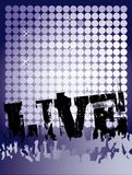 żywy koncerta plakat Zdjęcia Royalty Free