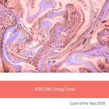 Żywy Koralowy kolor rok, Wykładający marmurem papier obrazy royalty free