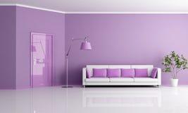 żywy lilla pokój royalty ilustracja
