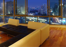żywy luksusowy nowożytny pokój Obraz Stock