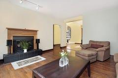żywy mieszkanie własnościowe pokój obraz stock