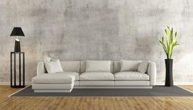żywy minimalistyczny pokój Zdjęcia Royalty Free