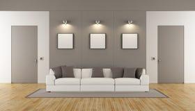 żywy minimalistyczny pokój Fotografia Royalty Free
