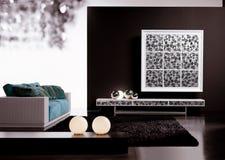 żywy nowożytny pokój Fotografia Stock
