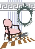 żywy nowożytny romantyczny pokój ilustracja wektor