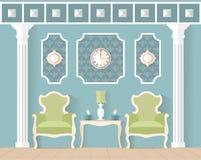 żywy pokój w płaskim stylu Zdjęcia Royalty Free