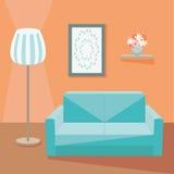 żywy pokój z kanapą Fotografia Stock