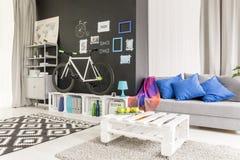 żywy pokój z kanapą zdjęcia stock