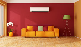 żywy pomarańczowej czerwieni pokój ilustracja wektor