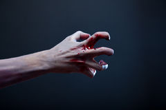 Żywy trup krwista ręka, istna sztuka Obraz Royalty Free