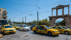 ˆHadley ¼ ` s Archï ¼ ‰ της Αθήνας cityscapeï Στοκ Εικόνες