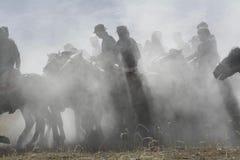 ˆTake del ¼ di Buzkashiï il ‰ del ¼ di Lambï che corre in Taxkorgan di Kashgar fotografia stock libera da diritti