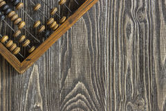 Άβακας που βρίσκεται σε έναν ξύλινο πίνακα Στοκ φωτογραφία με δικαίωμα ελεύθερης χρήσης
