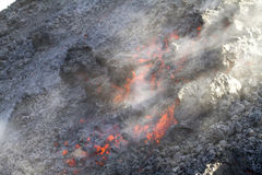 λάβα ροής ηφαιστειακή Στοκ φωτογραφία με δικαίωμα ελεύθερης χρήσης