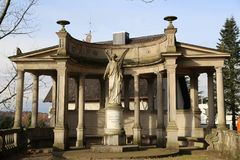 Άγαλμα αγγέλου σε baden-Baden Γερμανία Στοκ Φωτογραφίες