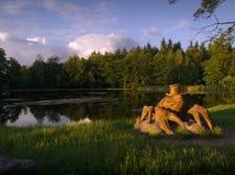 Άγαλμα αστακών στη λίμνη της Ιορδανίας σε Racin Στοκ Εικόνες