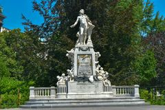άγαλμα Βιέννη Μότσαρτ Στοκ φωτογραφίες με δικαίωμα ελεύθερης χρήσης