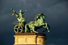Άγαλμα Βουδαπέστη αλόγων Στοκ Εικόνες